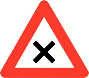 verkeersbord voorrang-van-rechts